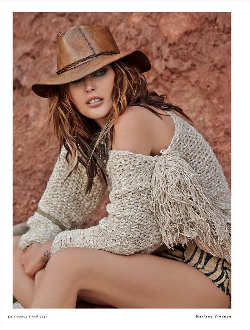 catherine mcneil mariano vivanco 5 Catherine McNeil Sports Safari Style for Vogue Russia by Mariano Vivanco
