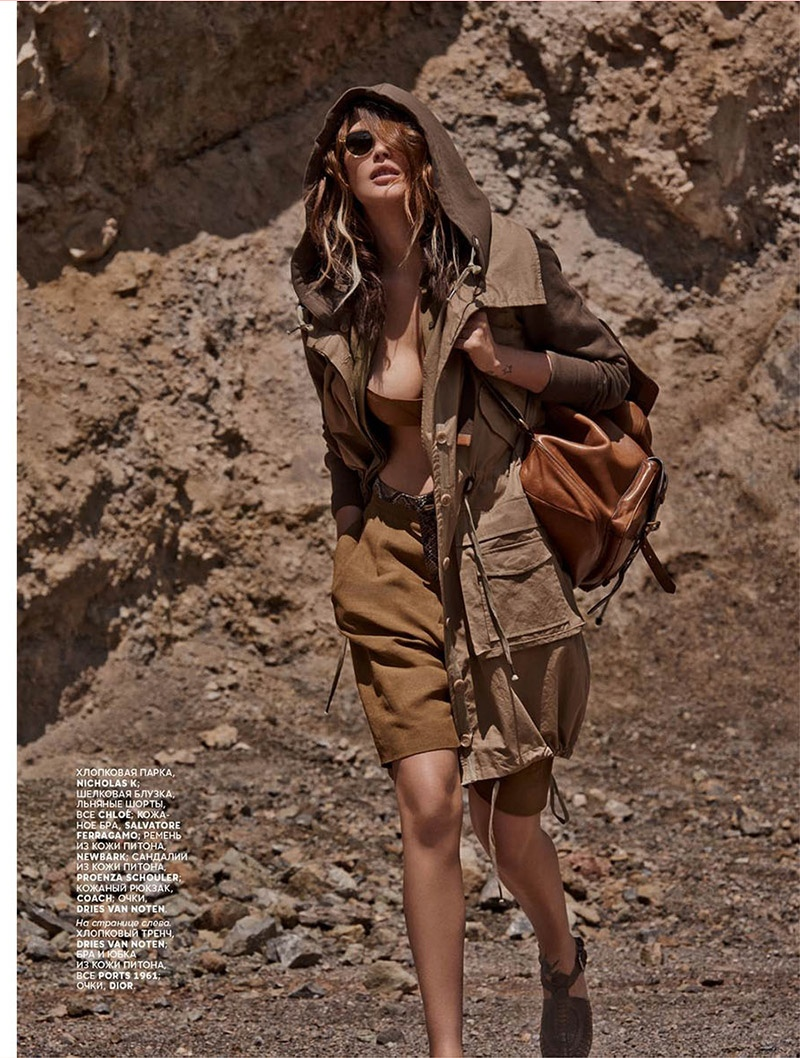 catherine mcneil mariano vivanco 8 Catherine McNeil Sports Safari Style for Vogue Russia by Mariano Vivanco