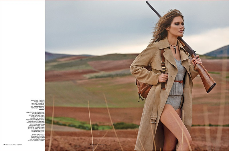 catherine mcneil mariano vivanco 9 Catherine McNeil Sports Safari Style for Vogue Russia by Mariano Vivanco
