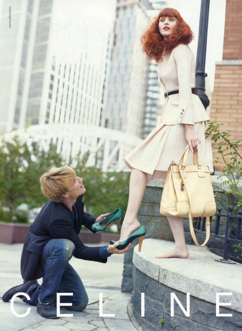 celine spring 2008 campaign1 TBT | Karen Elson Poses with Dancer Nikolaj Hübbe for Céline Spring 2008 Ads