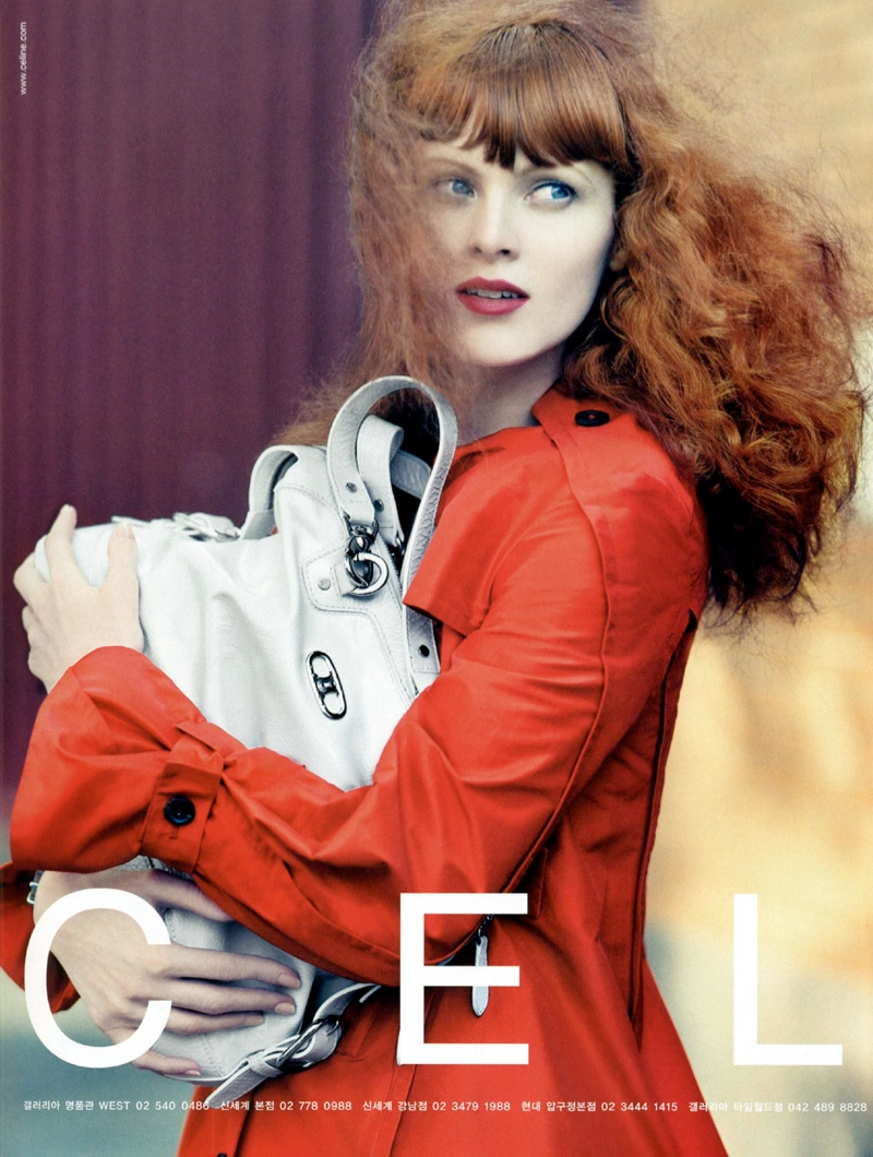 celine spring 2008 campaign2 Fiery Beauties: 8 Famous Models with Red Hair