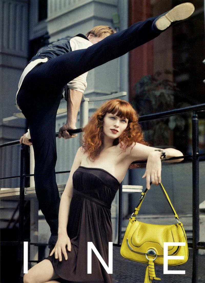 TBT | Karen Elson Poses with Dancer Nikolaj Hübbe for Céline Spring 2008 Ads