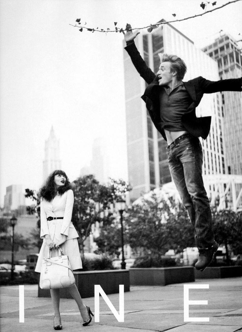 celine spring 2008 campaign6 TBT | Karen Elson Poses with Dancer Nikolaj Hübbe for Céline Spring 2008 Ads