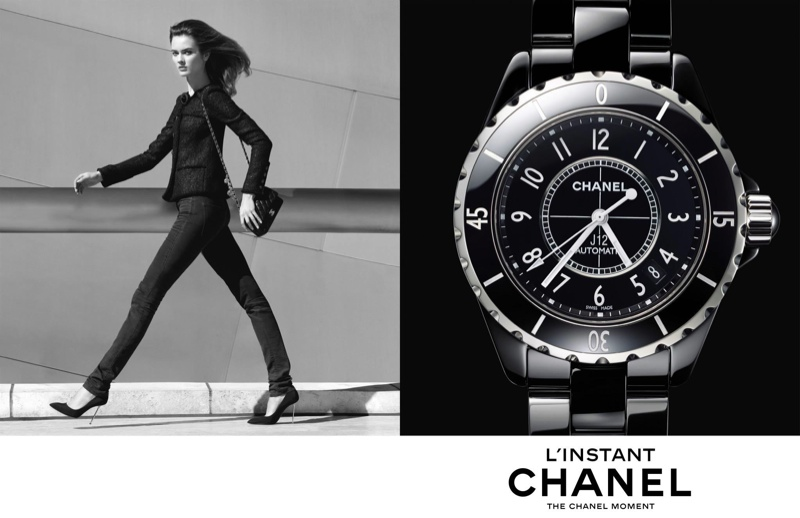 chanel linstant watch campaign 20141 Jac Jagaciak, Fei Fei Sun + Sharam Diniz Star in Chanel Linstant Watch 2014 Campaign