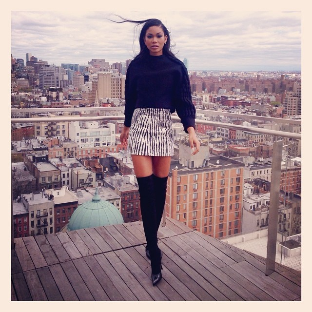 Chanel Iman gets leggy in New York