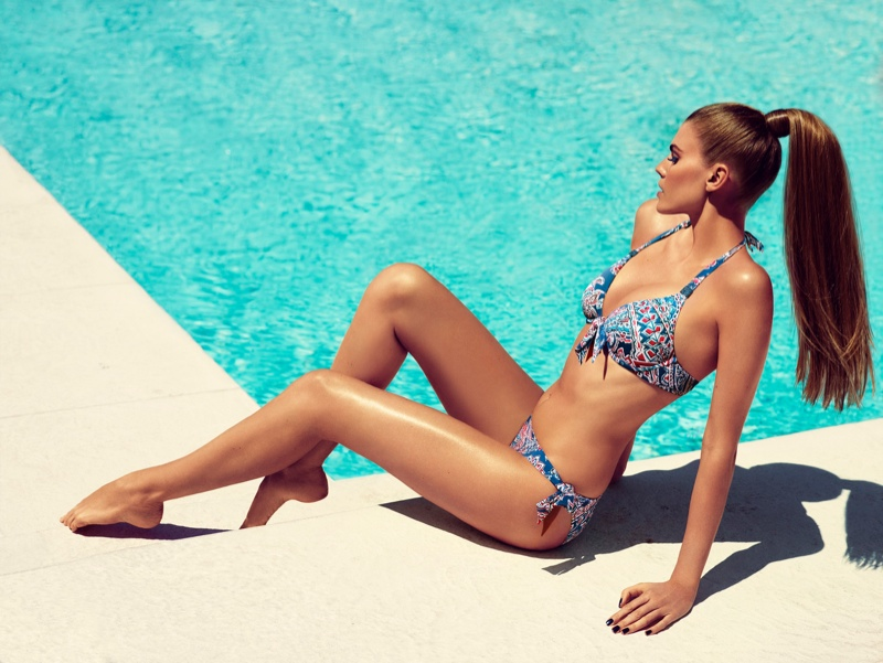 chantelle beachwear 2014 1 Maryna Linchuk Sizzles in Chantelle Beachwear 2014 Campaign