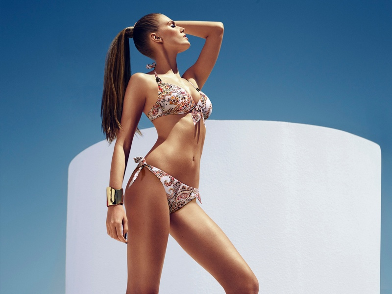 chantelle beachwear 2014 6 Maryna Linchuk Sizzles in Chantelle Beachwear 2014 Campaign