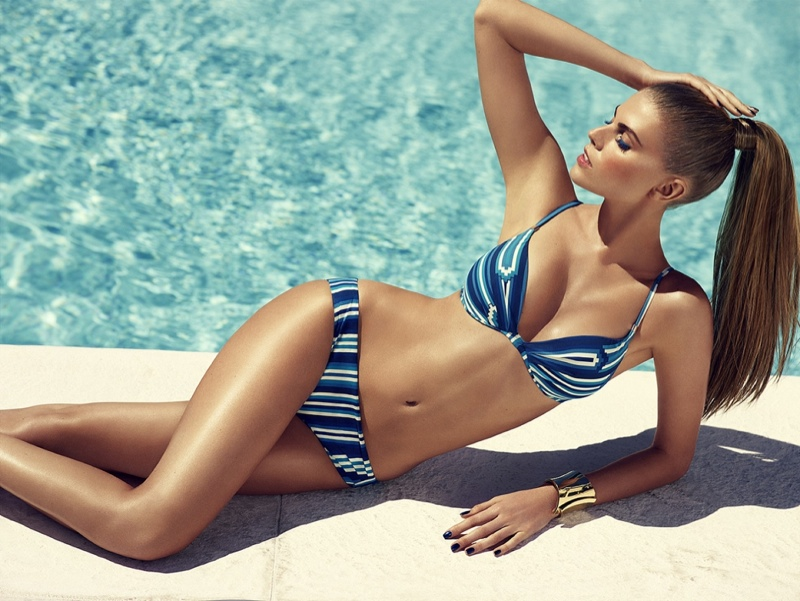 chantelle beachwear 2014 7 Maryna Linchuk Sizzles in Chantelle Beachwear 2014 Campaign