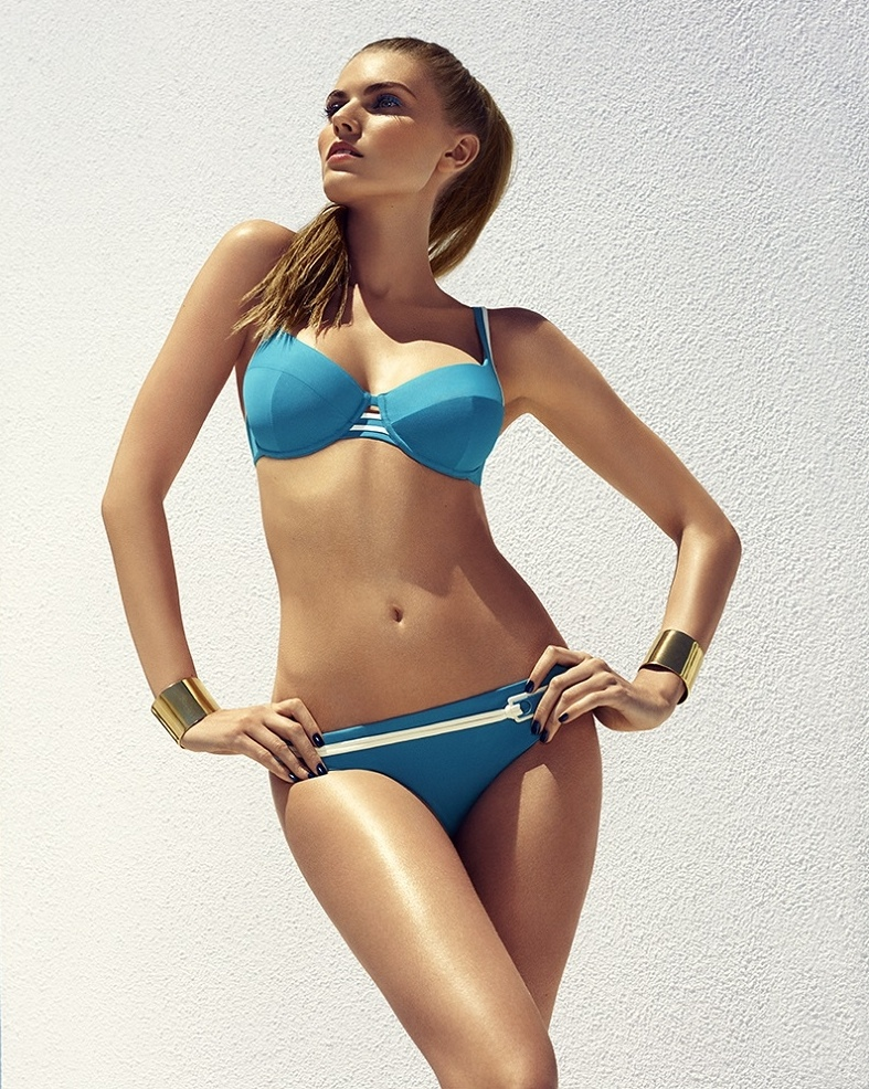 chantelle beachwear 2014 9 Maryna Linchuk Sizzles in Chantelle Beachwear 2014 Campaign