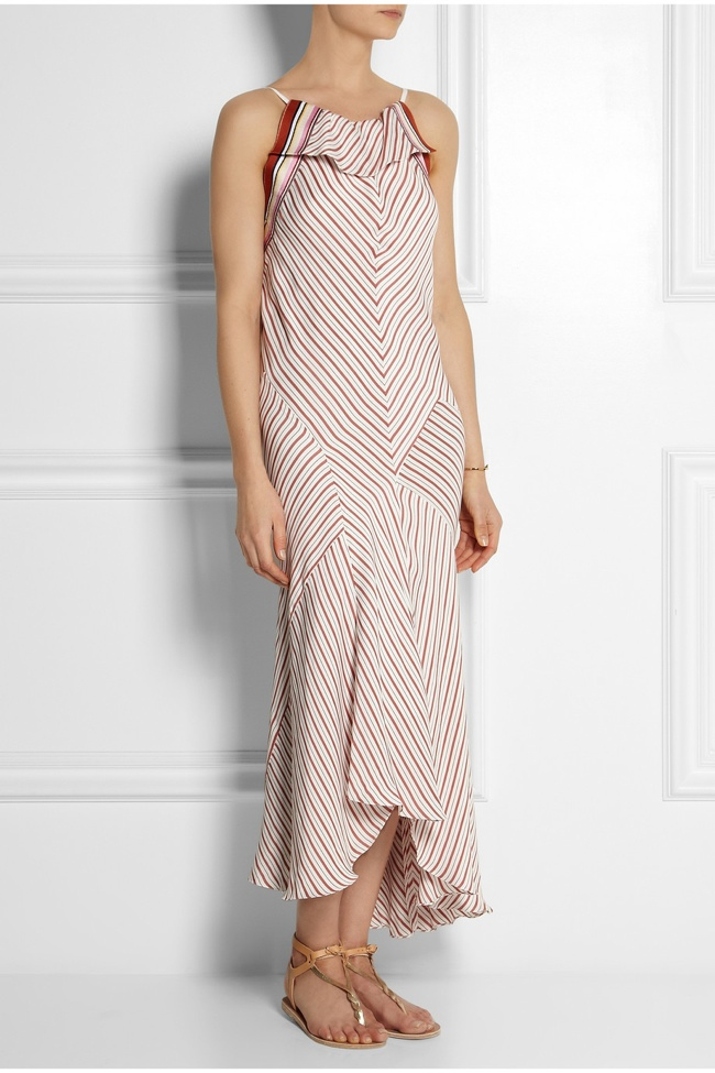 chloe netaporter striped crepe dress Shop the Chloe Line Made Exclusively for Net a Porter