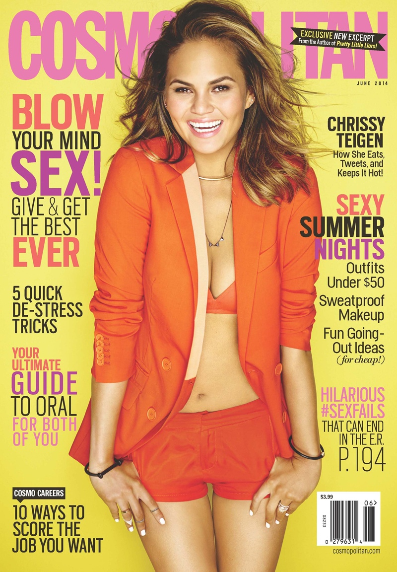 chrissy teigen cosmopolitan1 Chrissy Teigen Gets 3 Covers for Cosmopolitans June Issue
