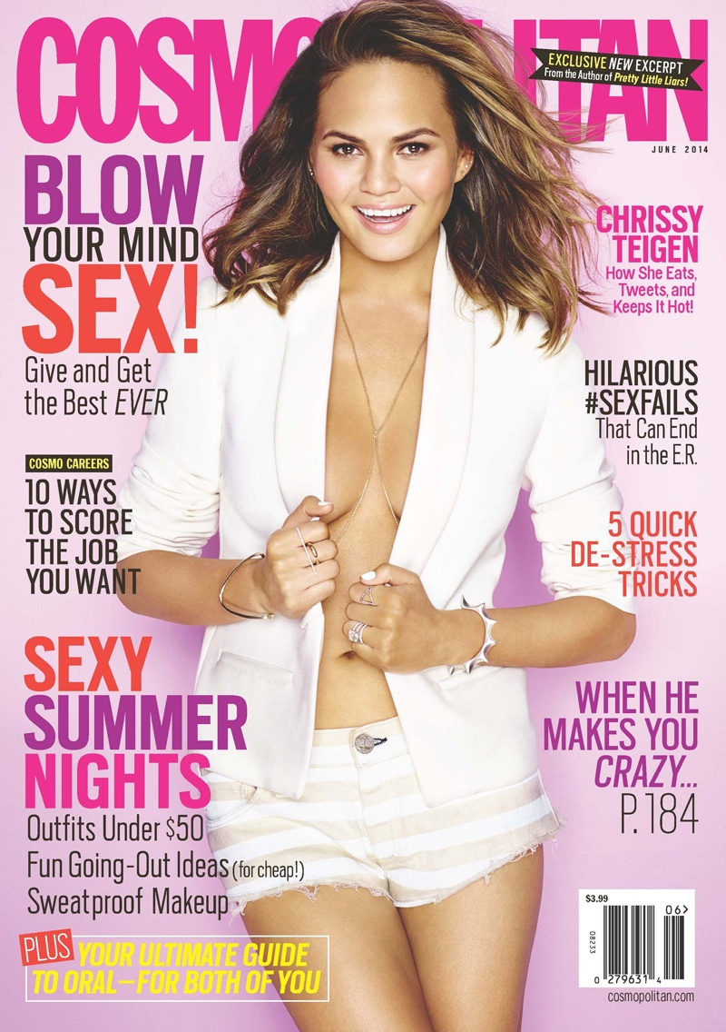 chrissy teigen cosmopolitan3 Chrissy Teigen Gets 3 Covers for Cosmopolitans June Issue