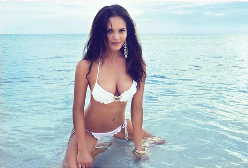 Chrissy Teigen is white-hot in bikini look. Image: Beach Bunny Swimwear