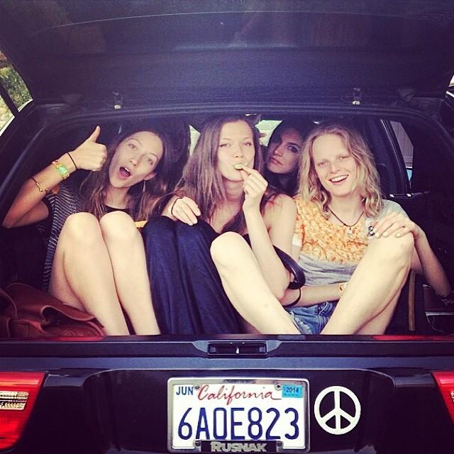 Alana Zimmer, Jacquelyn Jablonski, Kasia Struss, Hanne Gaby Odiele pre-Coachella