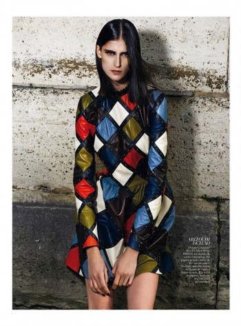 Daiane Conterato Models Valentino Fall '14 for Bazaar Brazil by Thanassis Krikis