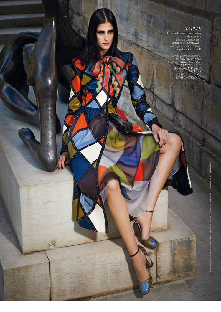 daiane conterato model6 Daiane Conterato Models Valentino Fall 14 for Bazaar Brazil by Thanassis Krikis