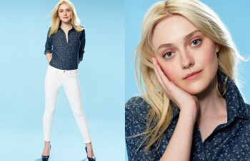 Dakota Fanning Gets Casual in Uniqlo Spring 2014 Campaign