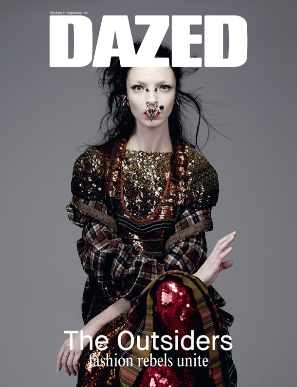 dazed spring 2014 covers1 Mariacarla Boscono Wears Nose Ring, Givenchy for Dazeds Spring 2014 Cover