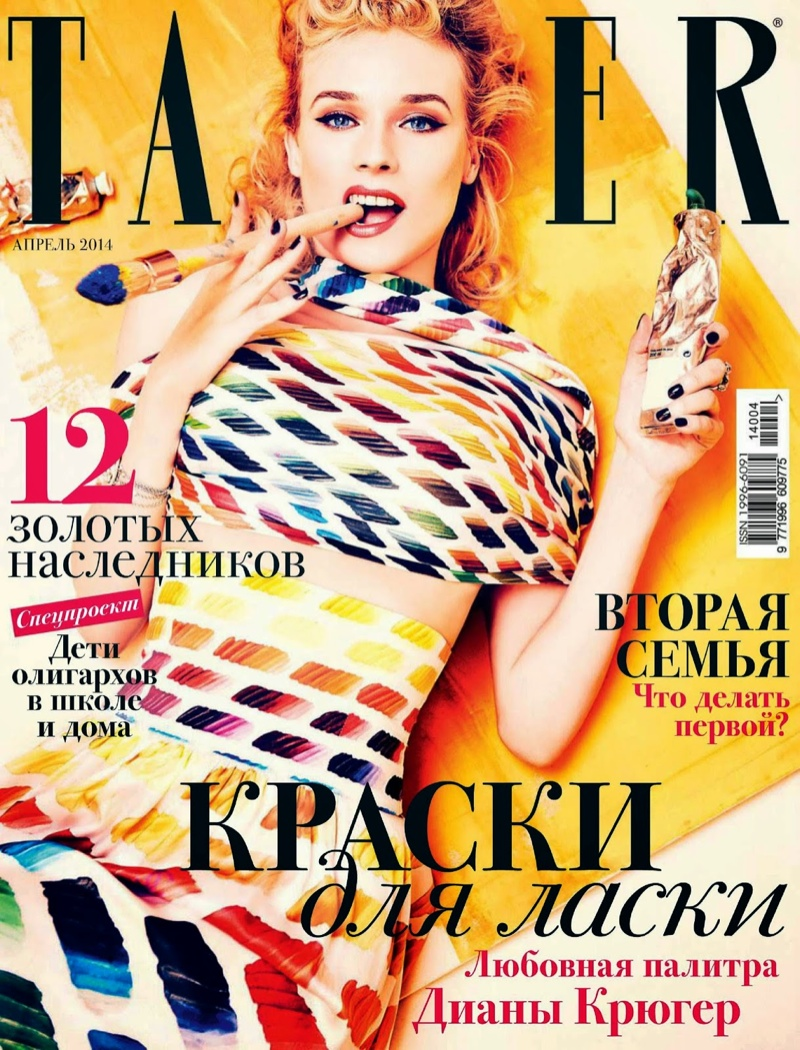 diane kruger ellen von unwerth1 Diane Kruger Turns on the Charm for Ellen von Unwerth in Tatler Russia Shoot