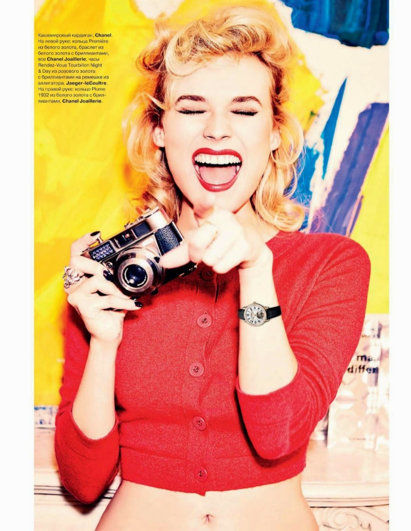 diane kruger ellen von unwerth4 Diane Kruger Turns on the Charm for Ellen von Unwerth in Tatler Russia Shoot