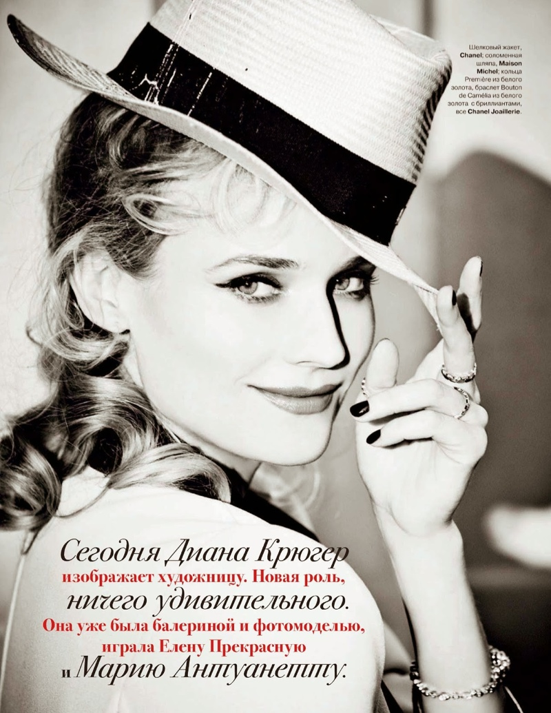 diane kruger ellen von unwerth6 Diane Kruger Turns on the Charm for Ellen von Unwerth in Tatler Russia Shoot