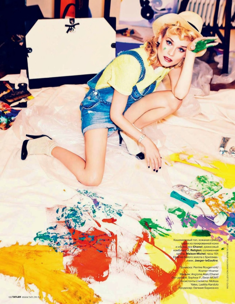 diane kruger ellen von unwerth9 Diane Kruger Turns on the Charm for Ellen von Unwerth in Tatler Russia Shoot