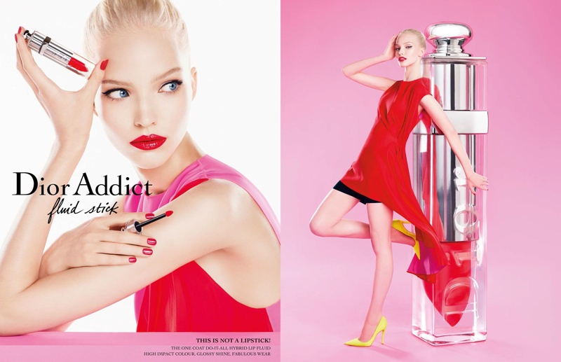 dior addict fluid stick sasha luss1 Sasha Luss Shines in Dior Addict Fluid Stick Ad Campaign