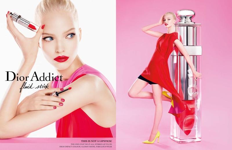 Sasha Luss Shines in Dior Addict Fluid Stick Ad Campaign
