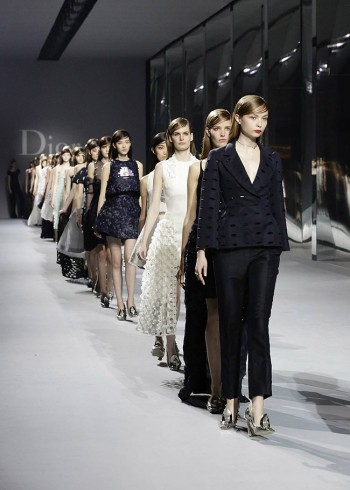 Photo: Dior's Couture Show in Hong Kong. Courtesy of label's Facebook