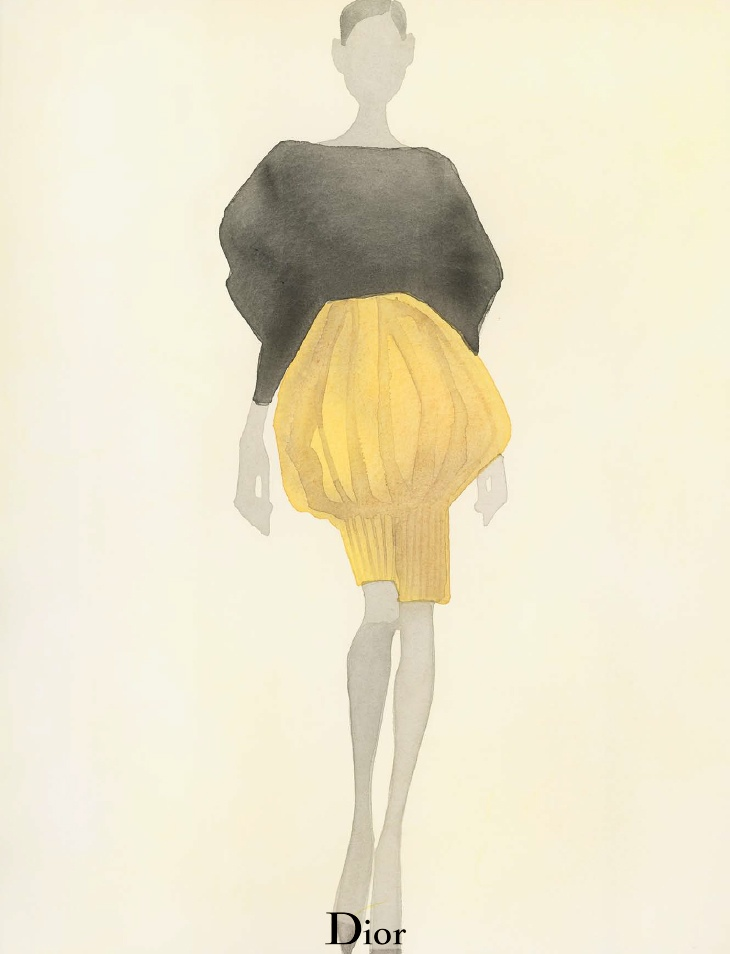 dior spring illustrations3 Diors Spring Collection as Watercolors by Mats Gustafson