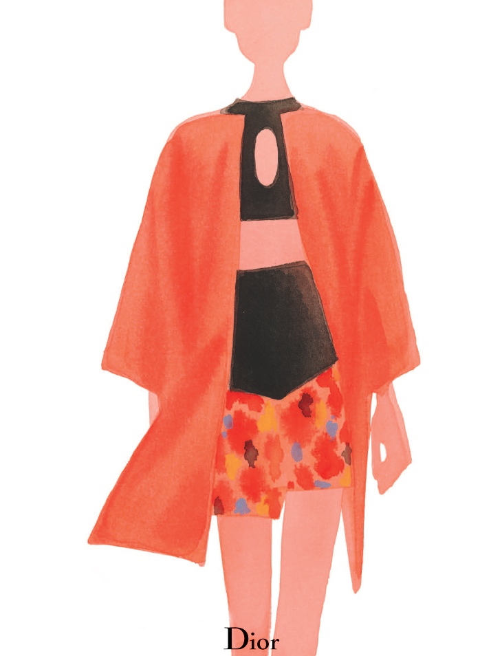 dior spring illustrations6 Diors Spring Collection as Watercolors by Mats Gustafson