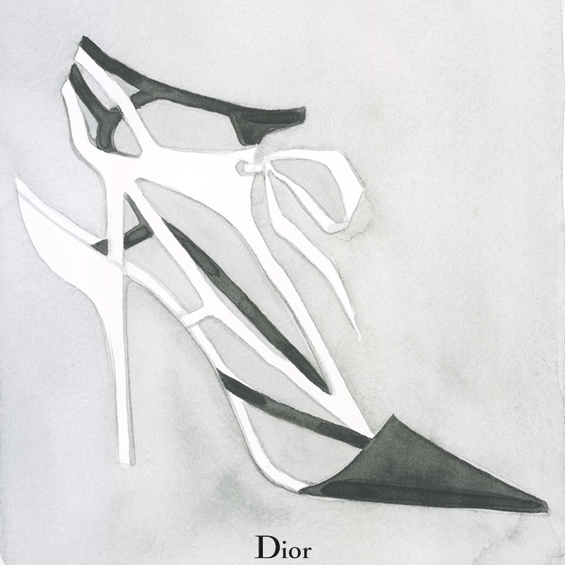 dior spring illustrations7 Diors Spring Collection as Watercolors by Mats Gustafson