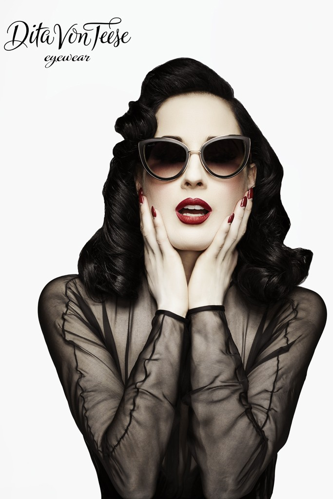 dita von teese eyewear photo1 Burlesque Star Dita Von Teese Launches Eyewear Line