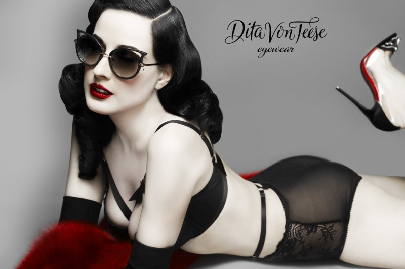dita von teese eyewear photo2 800x533 Burlesque Star Dita Von Teese Launches Eyewear Line