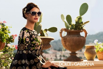 Bianca Balti is Like a Painting for Dolce & Gabbana's Spring 2014 Eyewear Ads
