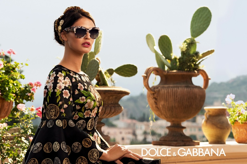 dolce gabbana eyewear spring 2014 campaign1 Bianca Balti is Like a Painting for Dolce & Gabbanas Spring 2014 Eyewear Ads