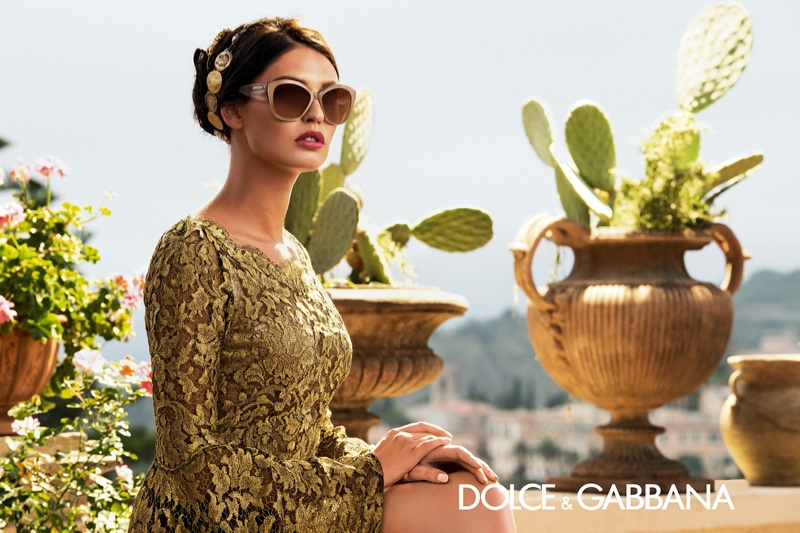 dolce gabbana eyewear spring 2014 campaign2 Bianca Balti is Like a Painting for Dolce & Gabbanas Spring 2014 Eyewear Ads