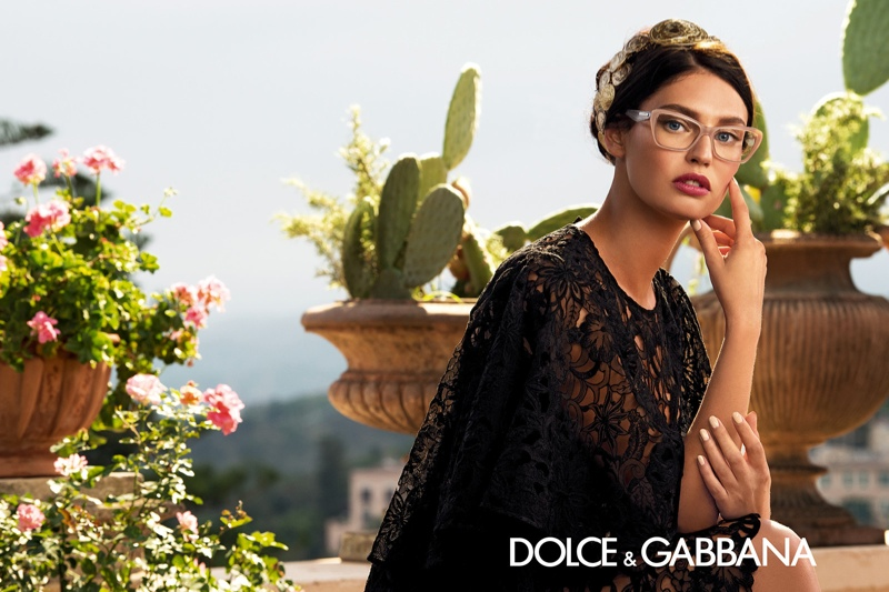 dolce gabbana eyewear spring 2014 campaign4 Bianca Balti is Like a Painting for Dolce & Gabbanas Spring 2014 Eyewear Ads