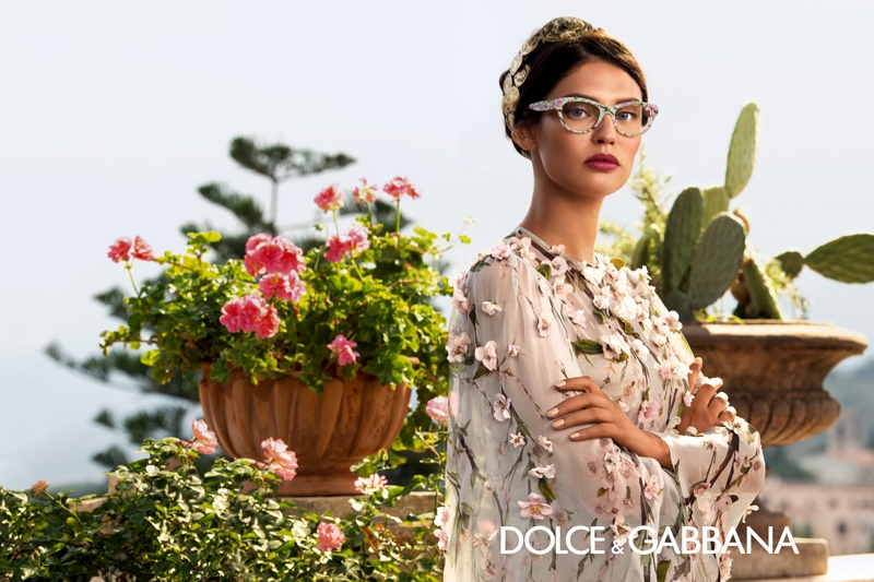 dolce gabbana eyewear spring 2014 campaign5 Bianca Balti is Like a Painting for Dolce & Gabbanas Spring 2014 Eyewear Ads