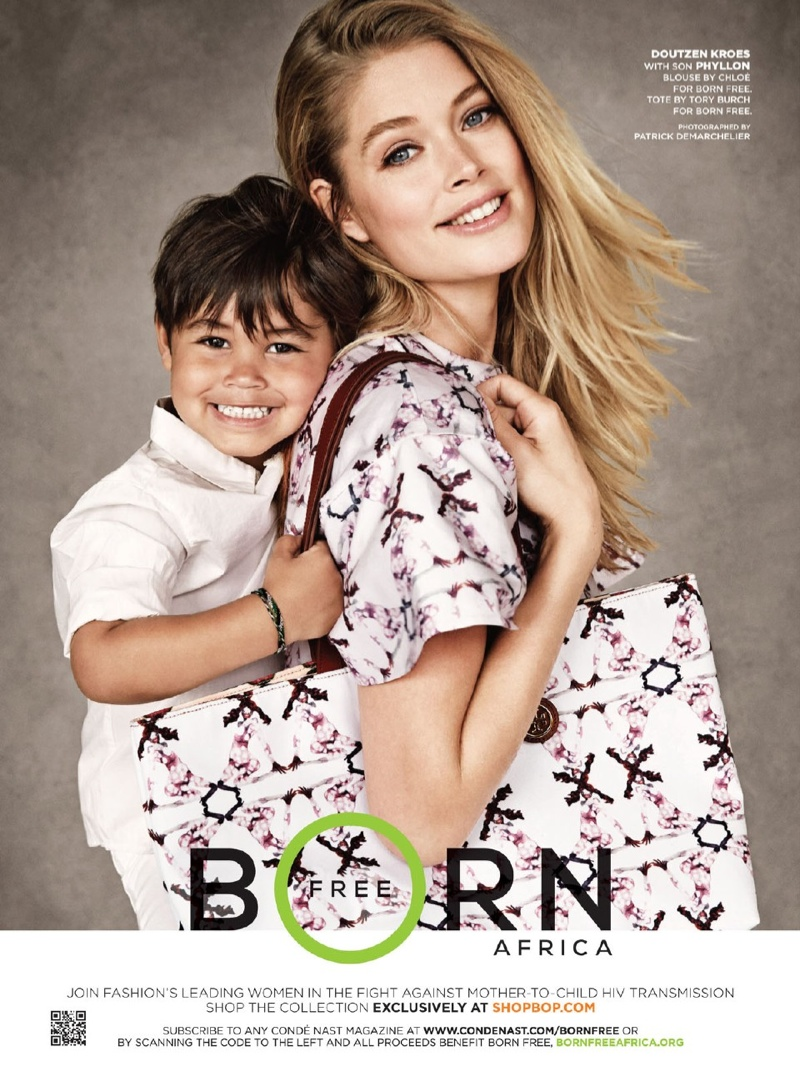 doutzen kroes son born free Doutzen, Sasha, Karolina & Their Children Pose for Born Free Africa Campaign
