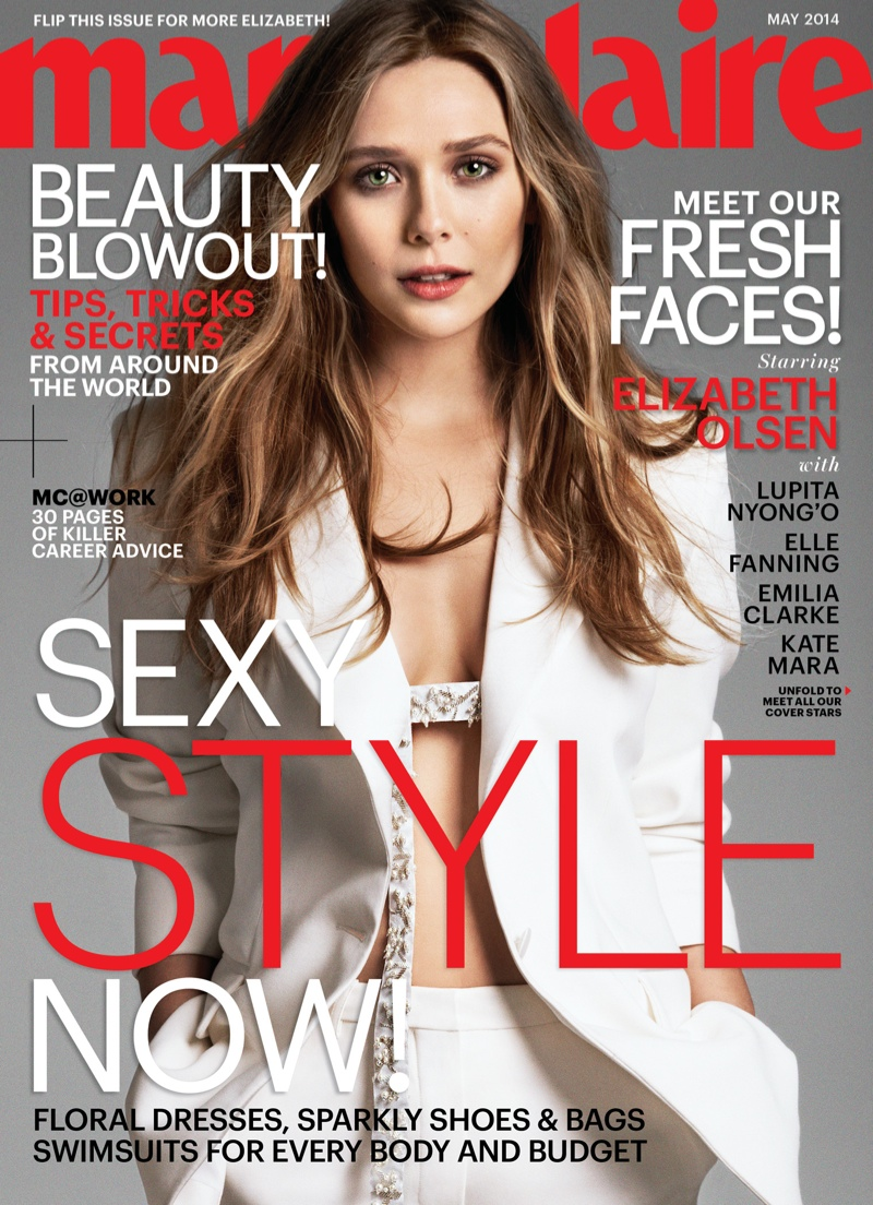 elizabeth olsen marie claire cover Lupita Nyongo, Emilia Clarke, Kate Mara + More Cover Marie Claire May 2014