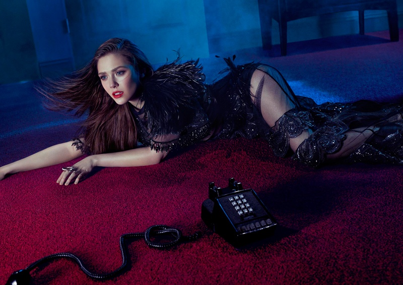 elizabeth olsen photo shoot 2014 4 Elizabeth Olsen Smolders in FLAUNT Shoot by Hunter & Gatti