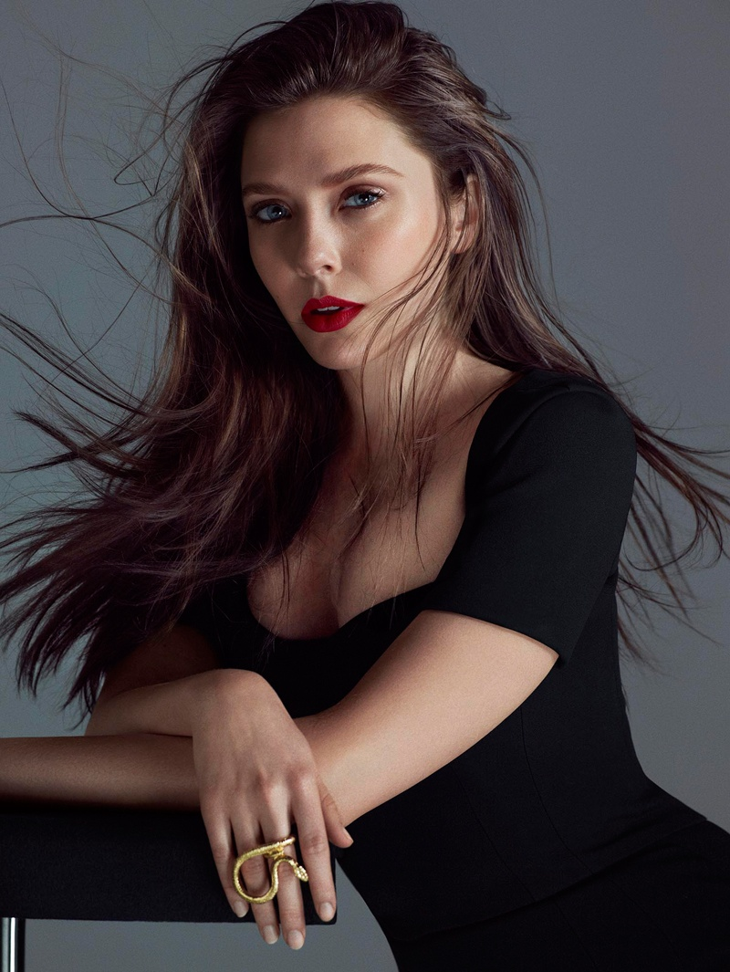 Elizabeth Olsen Smolders in FLAUNT Shoot by Hunter & Gatti