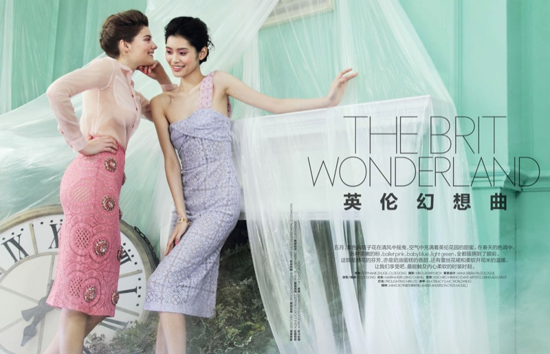 elle china nikolay biryukov1 Brit Wonderland: Ming Xi & Amber Anderson Pose for Nikolay Biryukov in Elle China