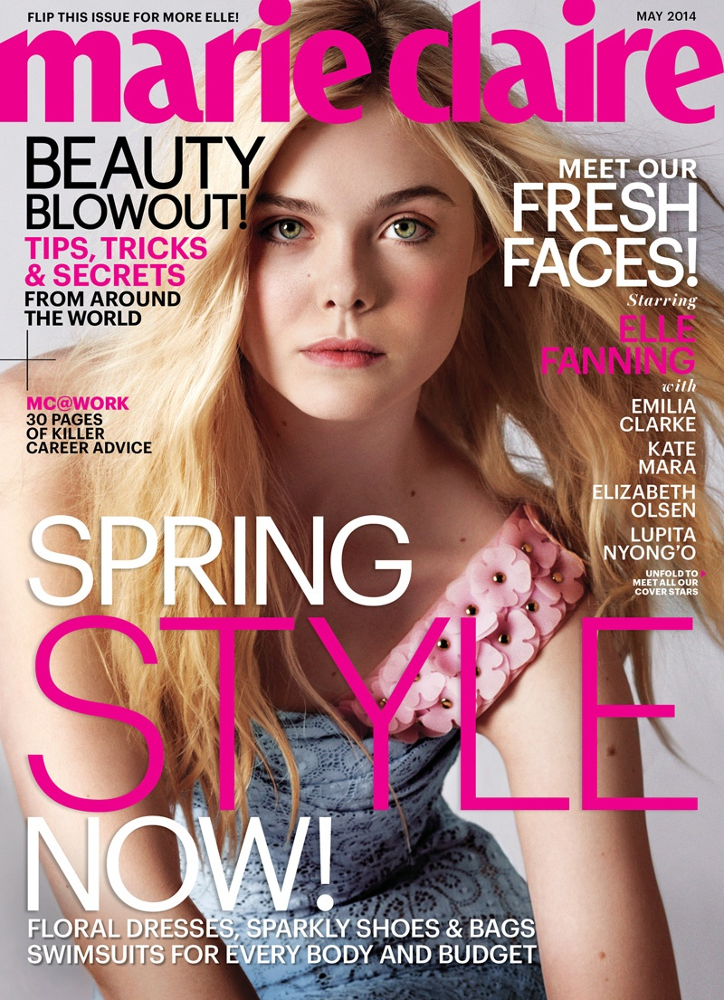 elle fanning marie claire cover Lupita Nyongo, Emilia Clarke, Kate Mara + More Cover Marie Claire May 2014