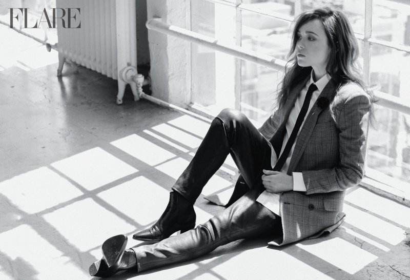 ellen page flare photos1 Ellen Page Covers Flare, Reveals Fears Over Coming Out as Gay