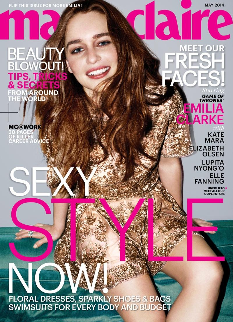 emilia clarke marie claire cover Lupita Nyongo, Emilia Clarke, Kate Mara + More Cover Marie Claire May 2014