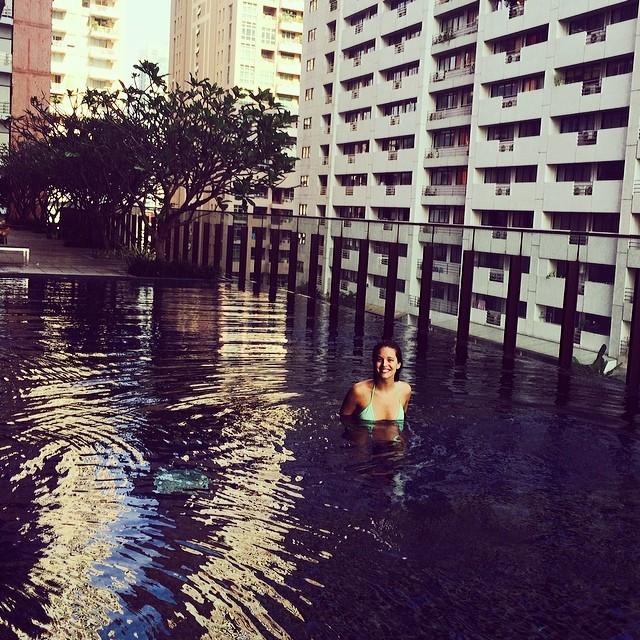 Emily DiDonato swimming in Bangkok