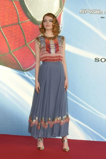 "Emma Stone is Chic in Chanel at ""The Amazing Spider-Man 2″ Berlin Premiere"