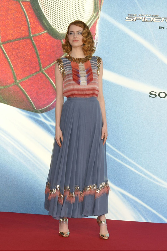 emma stone chanel premiere2 Emma Stone is Chic in Chanel at The Amazing Spider Man 2 Berlin Premiere